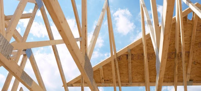 Home framing during construction