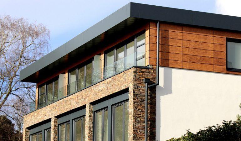 Modern home architecture.