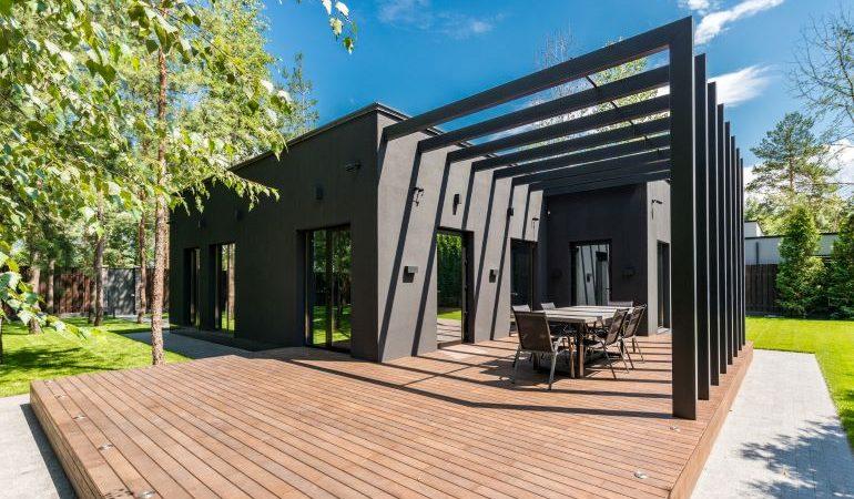 Modern residential deck.