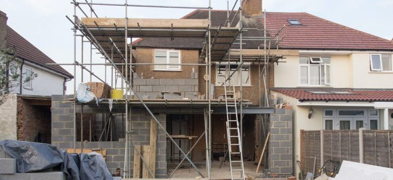 home being renovated