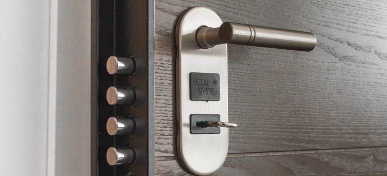 Door with multiple locks.
